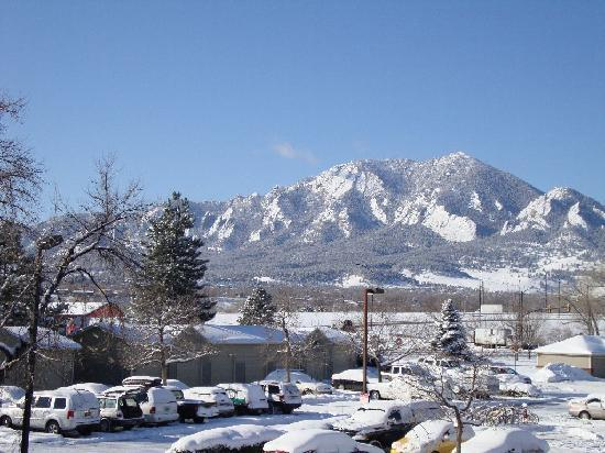 "Days Hotel Boulder: View from the balcony of a ""mountain view"" room"