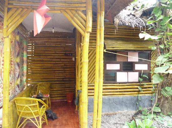 Kerala Bamboo House: the hut we stayed in