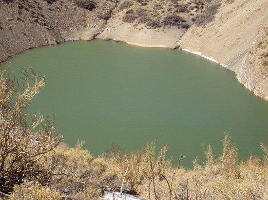 Malargue, Arjantin: Malargüe:  Pozo de las Ánimas: pozo de aguas verde esmeralda
