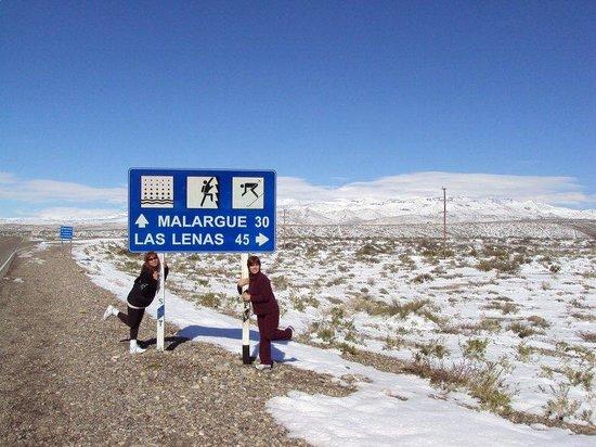 Malargue, Аргентина: Malargüe: ruta camino hacia Las Leñas