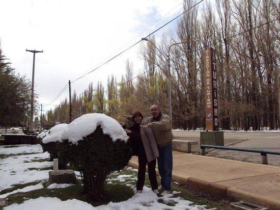 Malargue, Argentinien: Malargüe:  nieve en la Dirección de Turismo