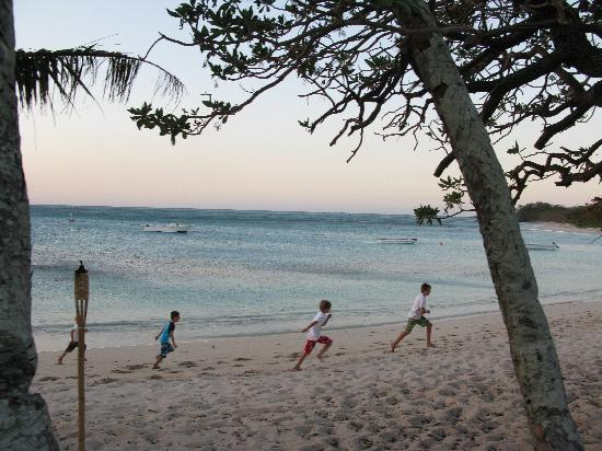 Blue Lagoon Beach Resort: The blue lagoon and beautiful beach with kids being kids