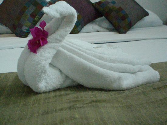 Villas H2O: A particularly fine towel bird