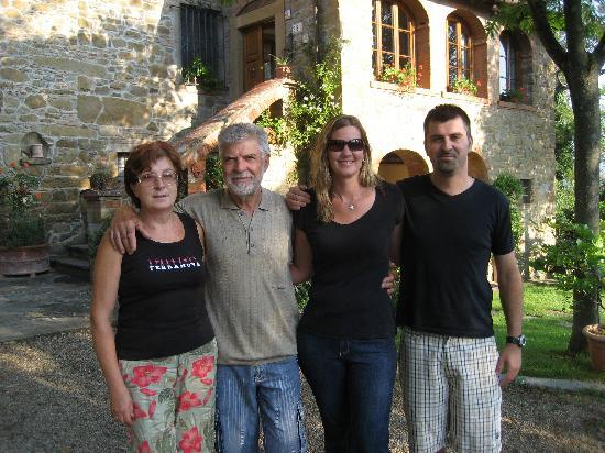 Castiglion Fiorentino, Italy: Villa owners, their son and myself