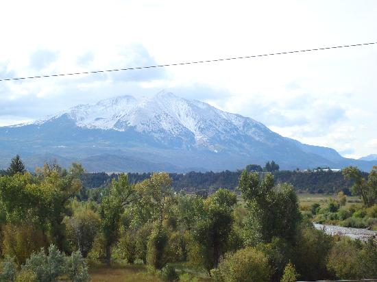 View of Mt Sopris from Carbondale Colorado Sept 2009