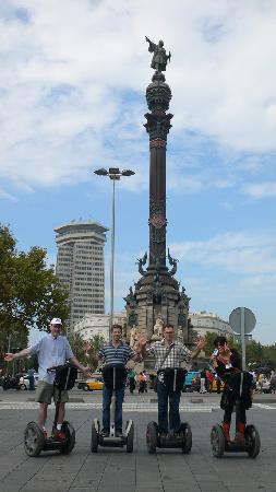 Barcelona Segway Glides : Having fun with the segways!