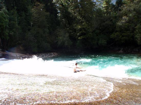 Campo Aventura Cochamó: water slide