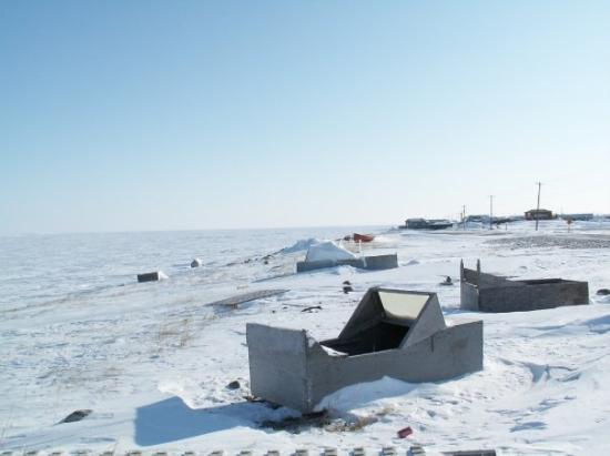 Arviat, Canadá: Shore of Hudsons Bay in March