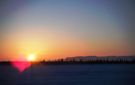 Aklavik, Canada: Sunset 1600 ish the 23rd of January... the days are already getting noticeably longer