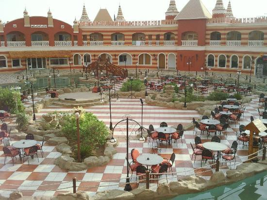 View from our balcony of the main room block.