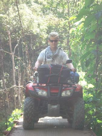 travelling by atv to San Juanillo from Nosara