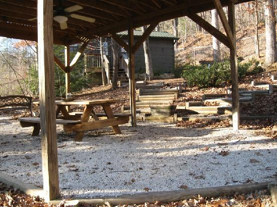 Lake Lure, Carolina del Nord: Tall Oaks Cabin, Arbor