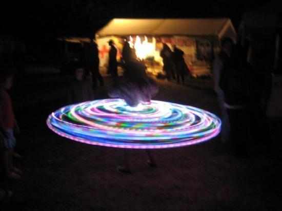 Happy Valley, OR: Lit up hula hoop.