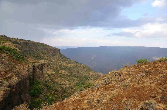 Debre Libanos, Etiópia: Blick vom Restaurant