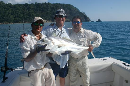 50lb Rooster Fish caught with Captain Oscar from Las Islas Lodge Jan. 2010