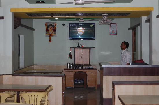 Restaurent of Hotel Saikrupa Shirdi