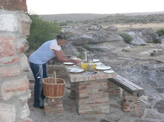 Nieuwoudtville, Afrique du Sud : Dinner is laid.