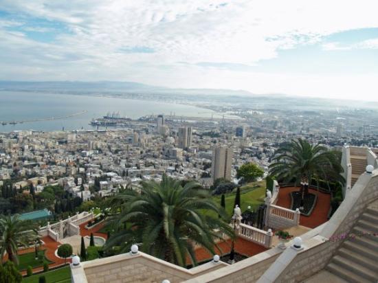 Haifa, Israel cityscape.