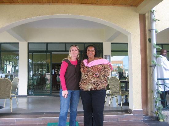 Hotel Gorillas City Center: Manager and I at hotel in Musanze, wonderful location and great folks.