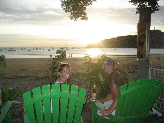 NSR San Juan Del Sur: enjoying the sunset w/a cold one :-)