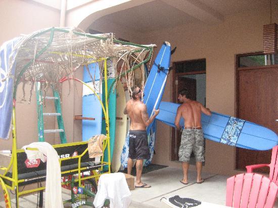 NSR San Juan Del Sur: renting a board from NSR