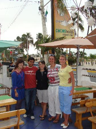 Cocos Hotel: With the owner