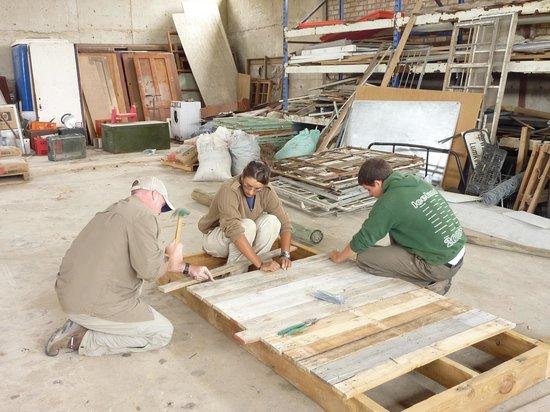 Port Elizabeth, Südafrika: Constructing a lion platform