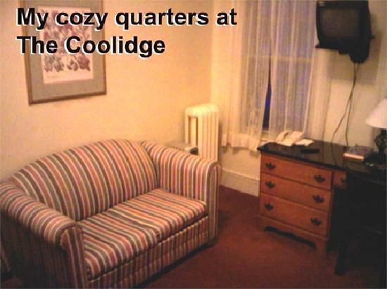 Hotel Coolidge: This was part of my room at The Coolidge. Nice TV too!