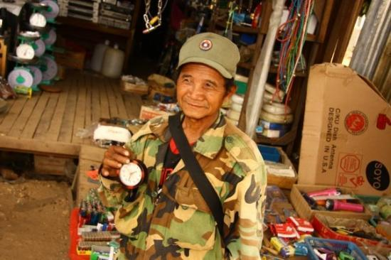 Pakse, Laos: just ond local persone from  Atapu
