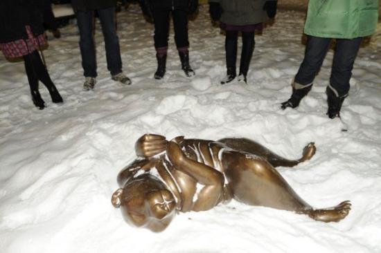 Uppsala, Sweden: Медведик работы Катарины и ноги