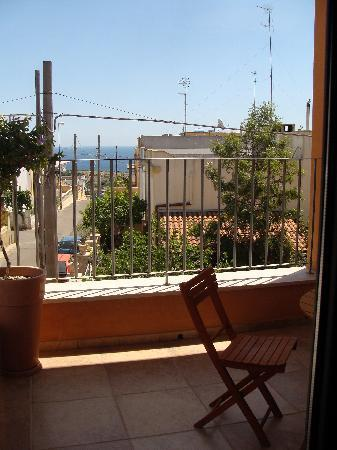 Gagliano del Capo, Italien: Blick vom Balkon aufs Meer