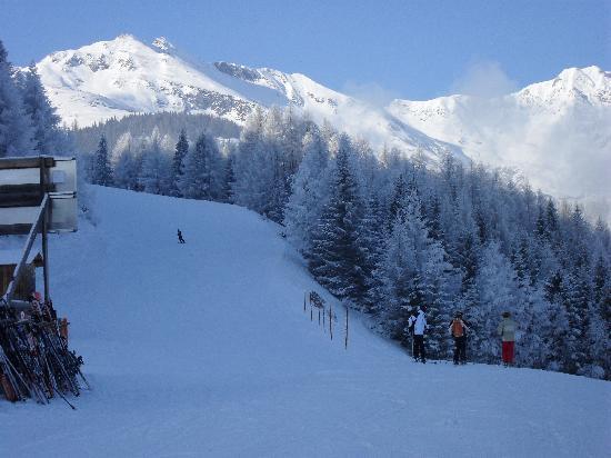 Alpina Hotel: middle station down to apres ski!