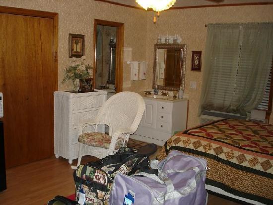 Julia's Cajun Country Bed & Breakfast: la chambre dispose de 2 coins toilette