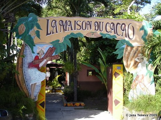 Pointe-Noire, Guadeloupe: Entrance of Maison du cacao