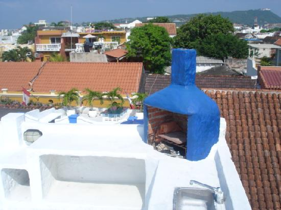Hotel Boutique Cochera de Hobo: VISTA BBQ