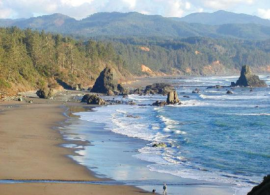 WildSpring Guest Habitat: Port Orford Bay, a beautiful place to enjoy the Pacific Ocean