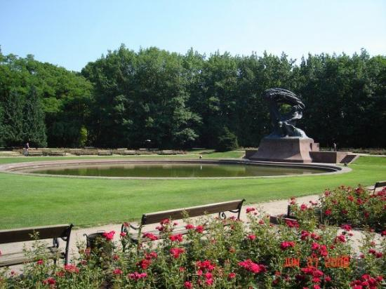 Chopin Monument: Frederick Chopin Park in Warsaw Poland