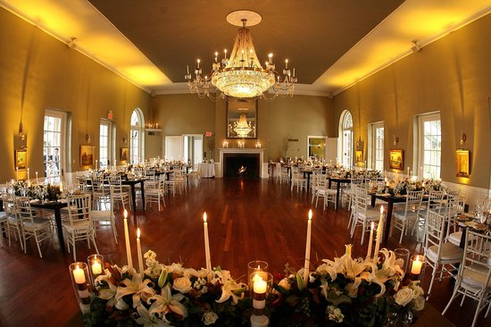 Garrison, NY: The ballroom in the late afternoon.