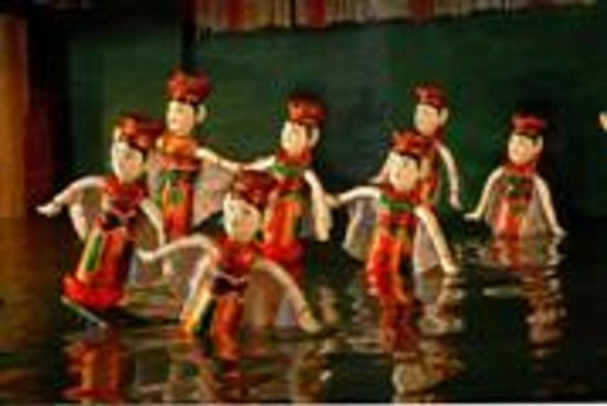 Water puppet show at Thao Dien Village