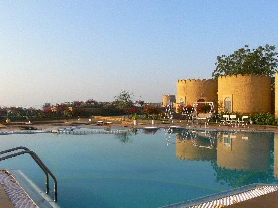 Himmatgarh Palace: Our Burj rooms by the pool