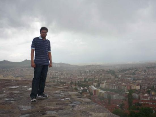 Ankara Citadel (Hisar): From the peak of the castle. It was a bit slippery because of the constant drizzle.