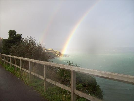 The Old Forge: amazing rainbow, Newlyn