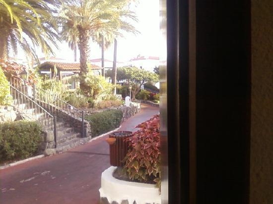 Playa de Santiago, Hiszpania: The view from our bungalow door