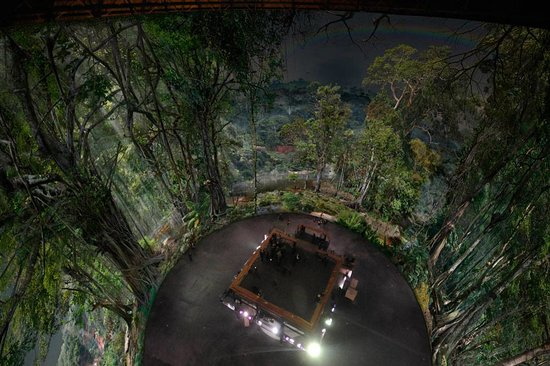 Panometer: Bird's eye view of the AMAZONIA Panorama