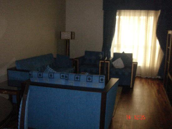 Lotus Downtown Metro Hotel Apartments : le salon