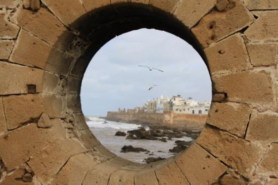 Essaouira, Morocco: Sqala du Port in the south towards Sqala de la Ville in the northwest.