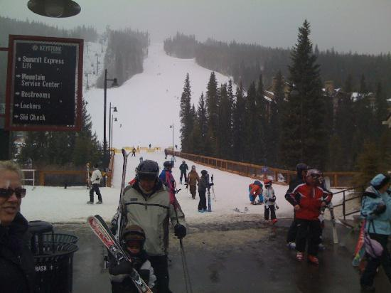 Expedition Station at River Run: Main ski run at Keystone