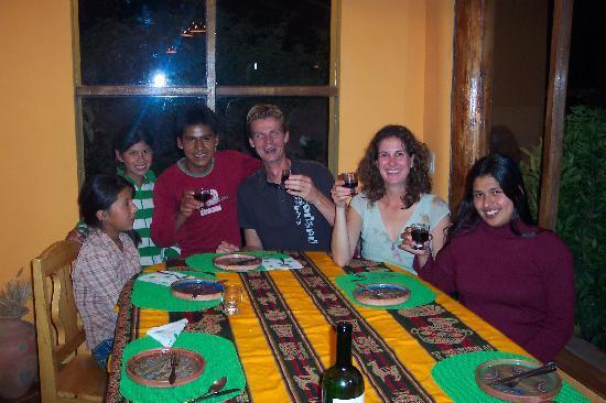 El Huerto Paraiso Sacred Valley Lodge: con amigos