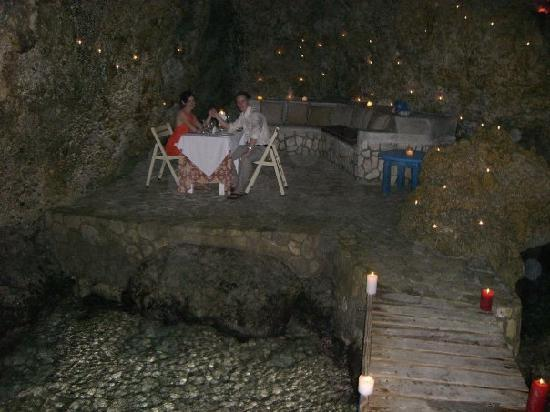 The Caves: dinner in a cave with hundreds of lit candles - so romantic