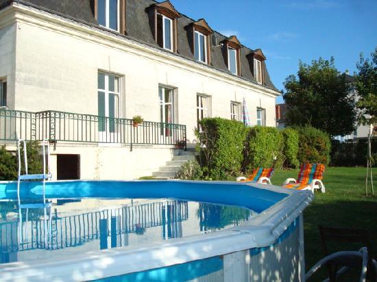 Jardin et piscine picture of le lamartine saumur for Jardin lamartine
